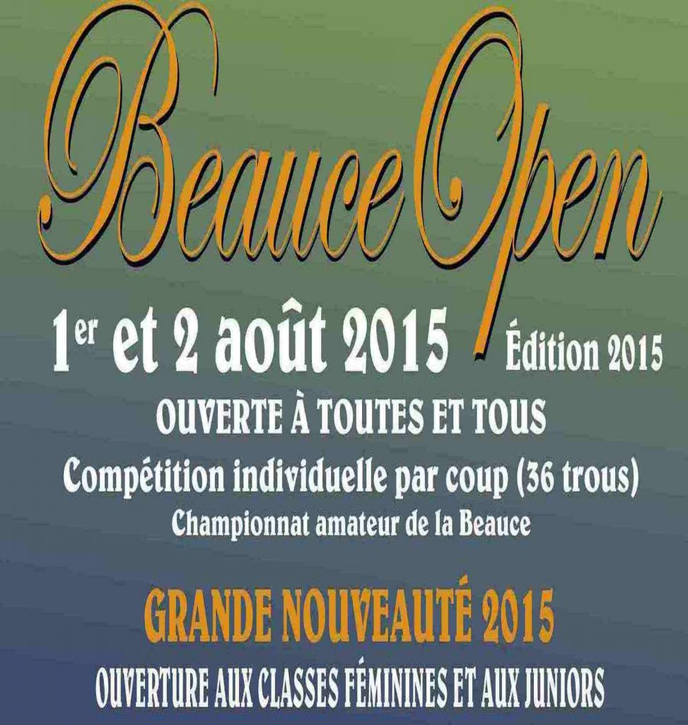 Le Beauce Open 2015 innove